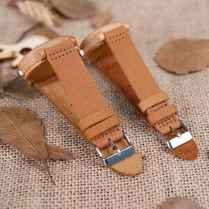 Image 5 - BOBO VOGEL Uhren Bambus Paare Uhren Liebhaber Handgemachte Natürliche Holz Luxus Armbanduhren Ideal Geschenke Einzelteile OEM Drop Verschiffen