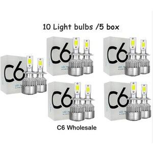 Luzes Do Carro Lâmpadas H7 C6 Atacado LED H4 9003 HB2 H11 LED H1 H3 H8 H13 H9 880 9005 9006 9004 9007 Auto Faróis 12V Diodo Emissor de Luz