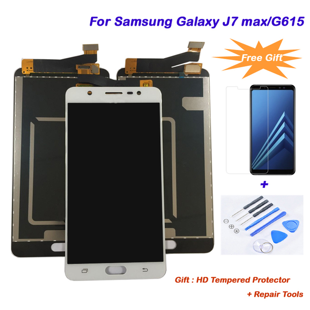 US $84 38 |For Samsung Galaxy J7 max/G615 LCD touch screen display AAA+  Quality Replacement LCD Digitizer+Touch Screen Assembly Free tools-in  Mobile