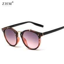 2020 винтажные Круглые Солнцезащитные очки с заклепками для