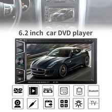 купить 6.2 Inch2 DIN Bluetooth HD Touch  Screen Car  In Dash FM Radio Receiver DVD CD Player with Wireless Remote Control по цене 5029.43 рублей