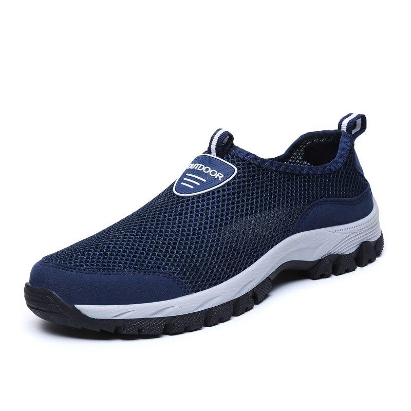Air grey De Respirant Blue D'eau Été Appartements on Hommes Mocassins Slip Casual noir Mode Baskets 2018 Chaussures Formateurs Dark Mens548 Mesh Uw480Rvnq
