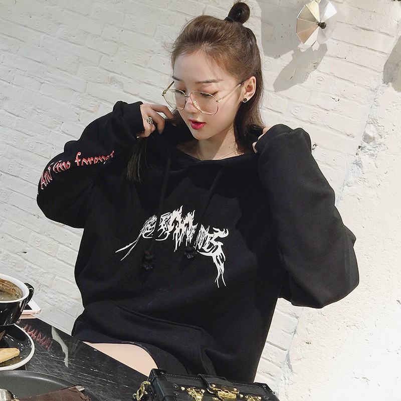 kpop EXO autumn winter Plus velvet women hoodies korean fashion streetwear cotton Harajuku women hooded sweatshirts k pop coat in Hoodies amp Sweatshirts from Women 39 s Clothing
