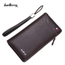 New Baellerry Business Herren Brieftaschen Mode Leder Lange Brieftasche Kupplung Handytasche für Männer Casual Cash Geldbörsen Karte Brieftaschen