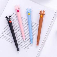 1 шт. 0.5 мм Kawaii милые палевый черные чернила Гелевые ручки Подписание Pen инструмент для написания школьные канцелярские принадлежности студент канцелярские