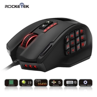 Rocketek Gaming Series 50 To 16400 DPI High Precision Laser MMO Gaming Mouse For PC 19