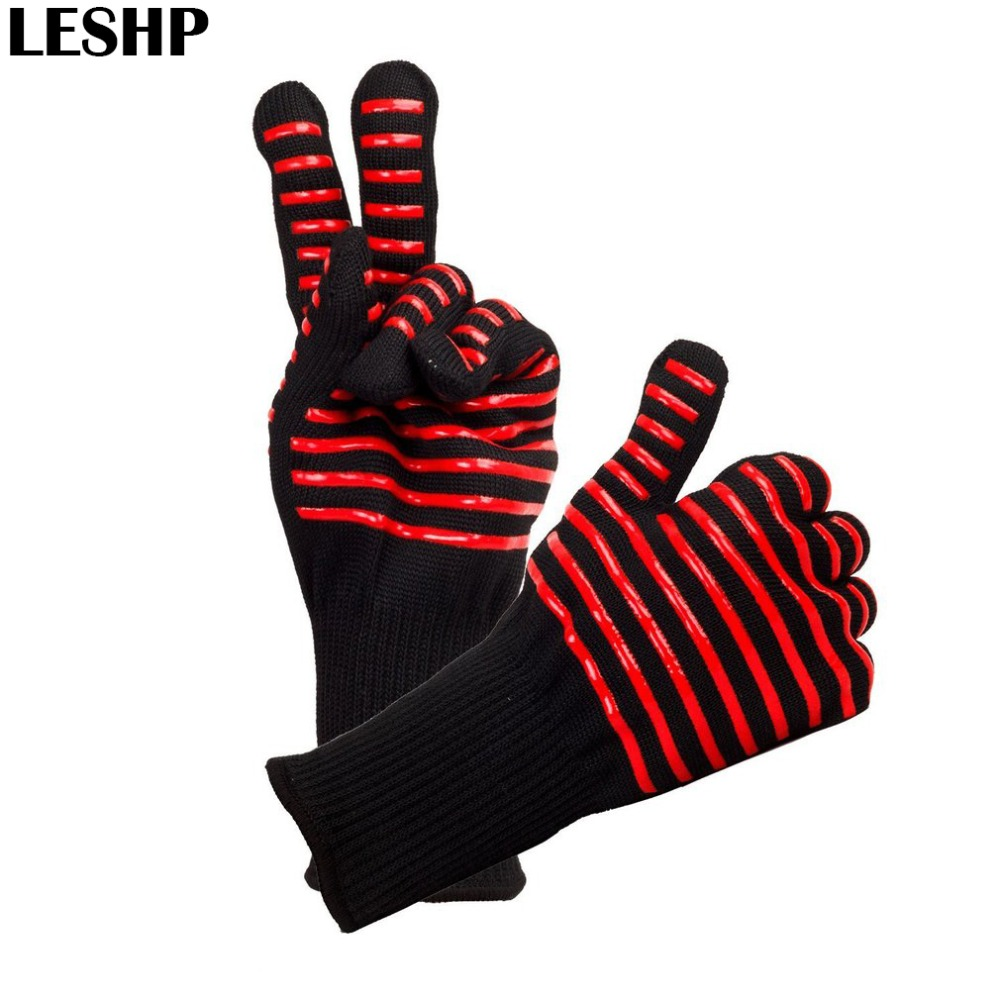 1 Pair Microwave Oven Gloves High Temperature Resistance Non-slip Oven Safety Heat Insulation Kitchen Cooking Grilling Gloves 1 pcs kitchen microwave mitt insulated oven heat resistant silicone glove oven pot holder baking bbq cooking non slip tool