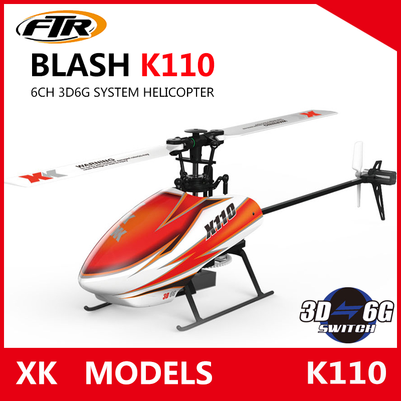 JJRC XK K110 Blash 6CH Brushless 3D6G System radio control RC Helicopter RTF remote control toy VS Wltoys V977 wltoys v950 6ch 3d6g system flybarless big rc helicopter with brushless motor 2 4g rtf
