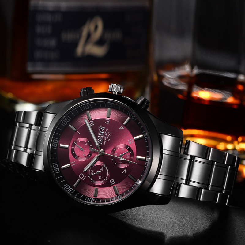 Top Luxury Brand Bosck Men Vattentät Stainless Steel Band Watch - Herrklockor - Foto 3