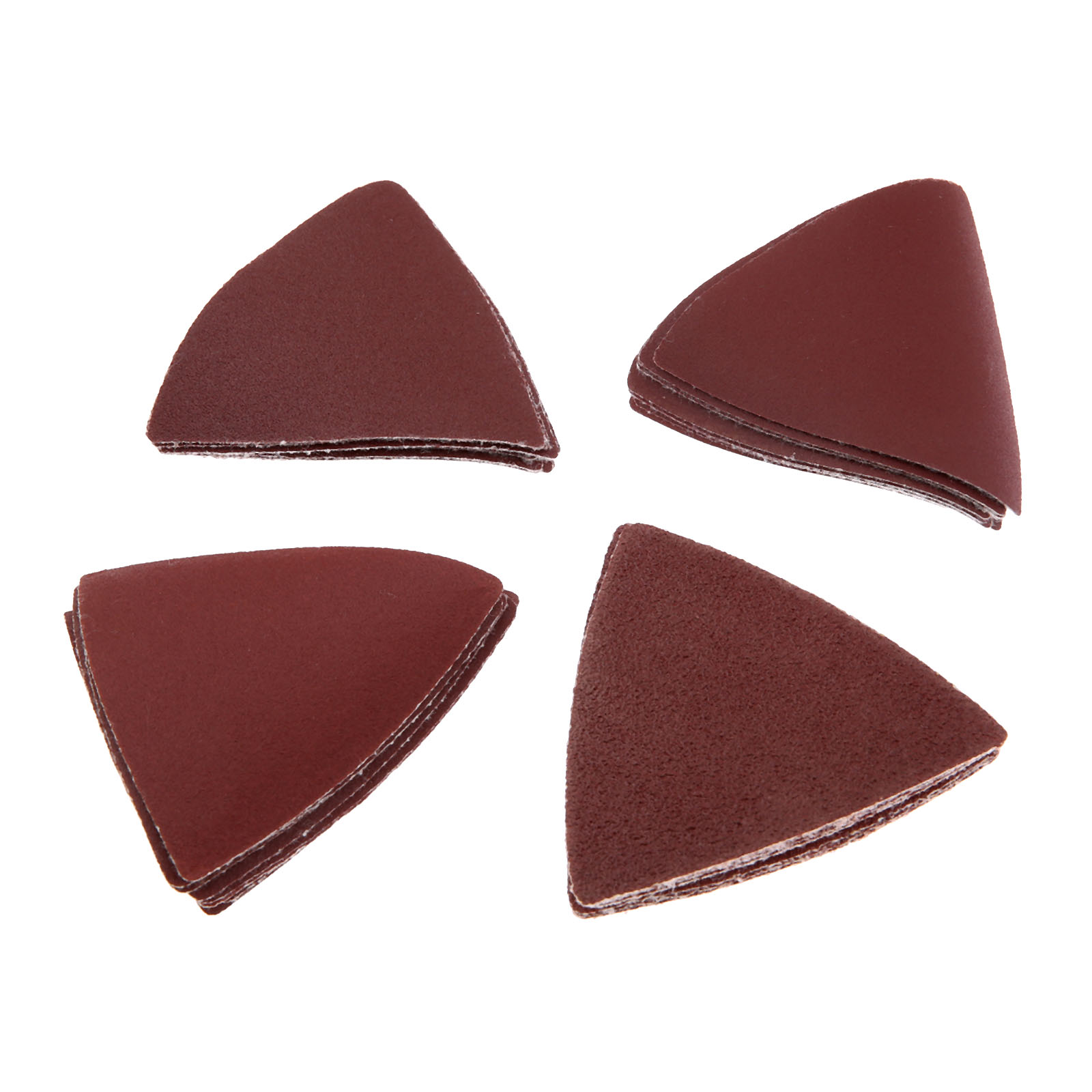DRELD 32pcs 83mm Triangular Sanding Paper Grit 60/120/180/240# For Multifunction Power Tool As Fein Multimaster Dremel Tools