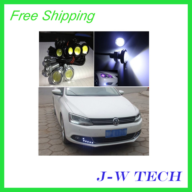 2 pcs 3w ultra-thin screw led reverse light bulb super bright lamp eagle eye LED light 18 mm diameter Free shipping