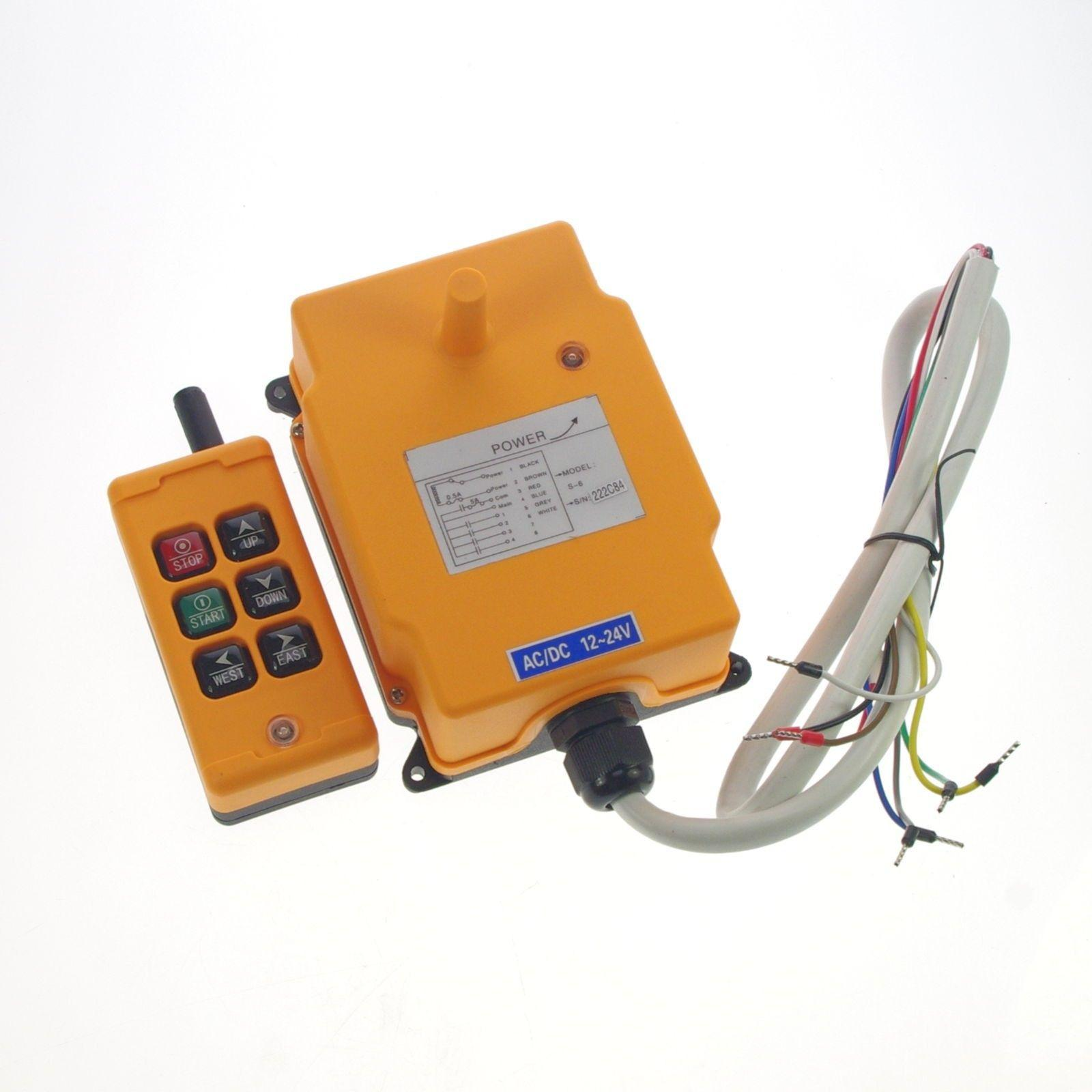 12V-415V 6 Channels 1 Speed 1 Transmitter Hoist Crane Truck Radio Remote System Controller CE цена