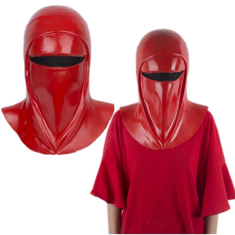 スター·ウォーズ皇帝のロイヤルガードラテックスマスクハロウィンコスプレ小道具赤フルヘルメット