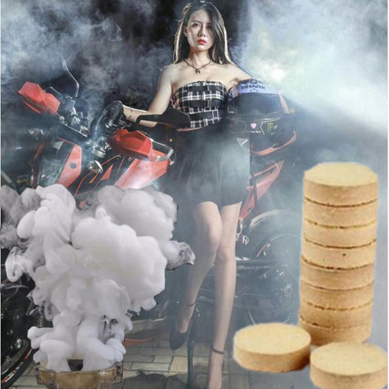 10 Pcs/Box Smoke Cake Pills White Bomb Effect Show Round Photography Aid Toy Divine Halloween Decoration Party DIY Decor