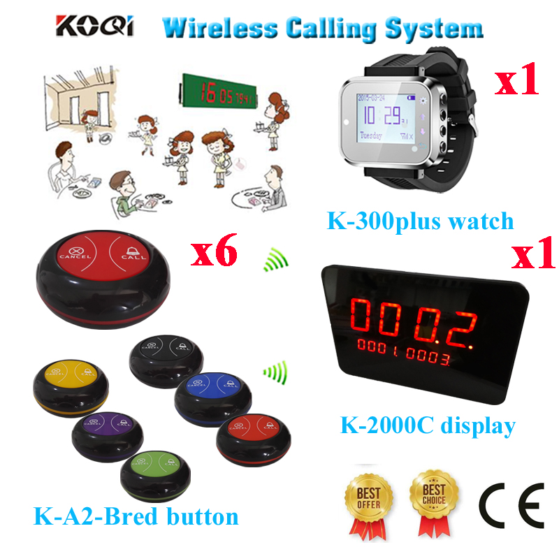 Wireless Table Paging System 433.92mhz Restaurant Call