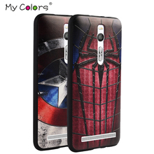 For Asus Zenfone 2 ZE551ML case 3D Relief painting soft Silicon back cover case for ASUS zenfone2 ZE551ML 5.5 Marvel Spiderman(China)