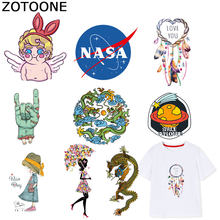 ZOTOONE Girls Angel Patches Dreamcatcher Sticker Iron on Transfers for Clothes T-shirt Heat Transfer DIY Accessory Appliques F1(China)