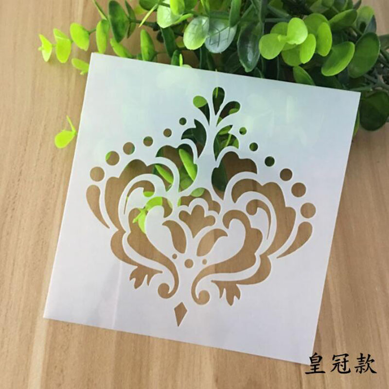 Stencil Reusable Crown Painting Hollow Template Stencils For Painting Wall Scrapbooking Photo Album Embossing Paper Cards Crafts