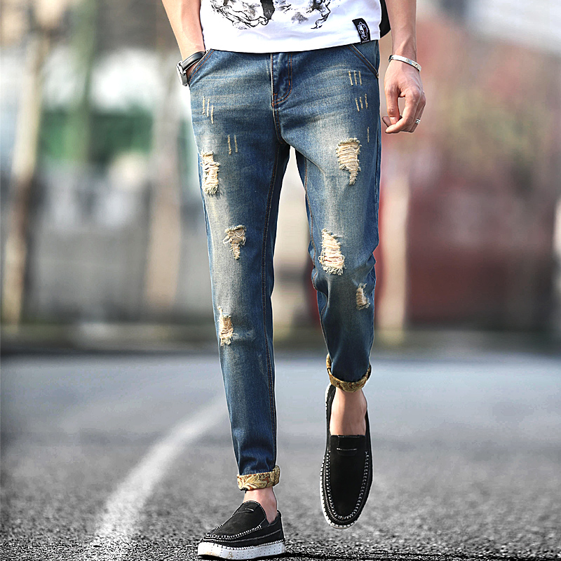 Online Buy Wholesale destroyed mens jeans from China destroyed ...