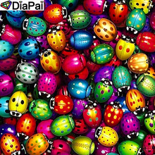 DiaPai 100% Full Square/Round Drill 5D DIY Diamond Painting Colored ladybug Embroidery Cross Stitch 3D Decor A20072