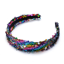660263e59bc Fashion Reversible Glitter Sequins Hairbands for Women Headbands Wide Head  Hoop Lady Girls Hair Bands for