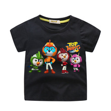 цена Boys Girls Cartoon Top Wing Tshirts Children Summer Short Sleeve Tees Top Kids Cotton T-shirts Baby Casual T Shirt Clothes