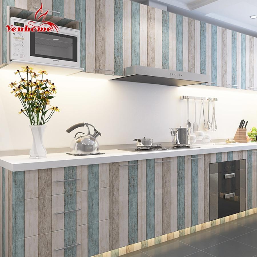 3M/5M/10M Waterproof Vinyl Wall Stickers Self Adhesive Wallpaper Roll Furniture Decorative Film Kitchen Cabinet Wardrobe Sticker