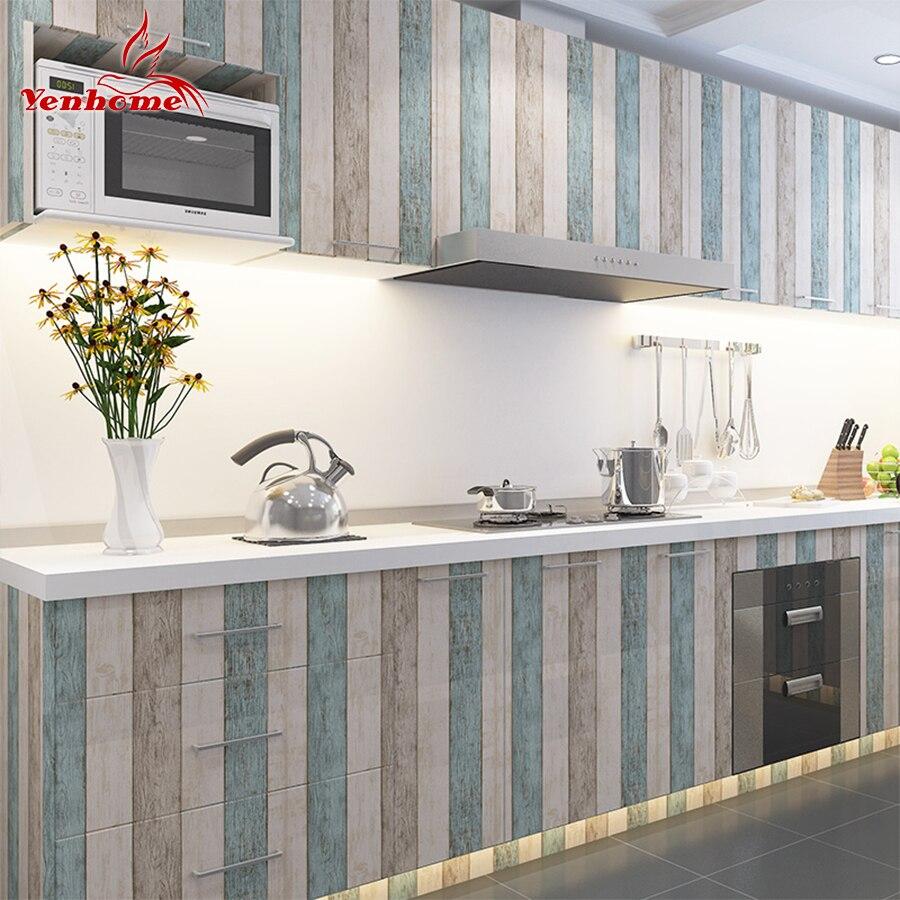 3 Mt/5 Mt/10 Mt Wasserdicht Vinyl Wandaufkleber selbstklebende Tapete Rolle Möbel Dekorative Film Küche schrank Kleiderschrank Aufkleber
