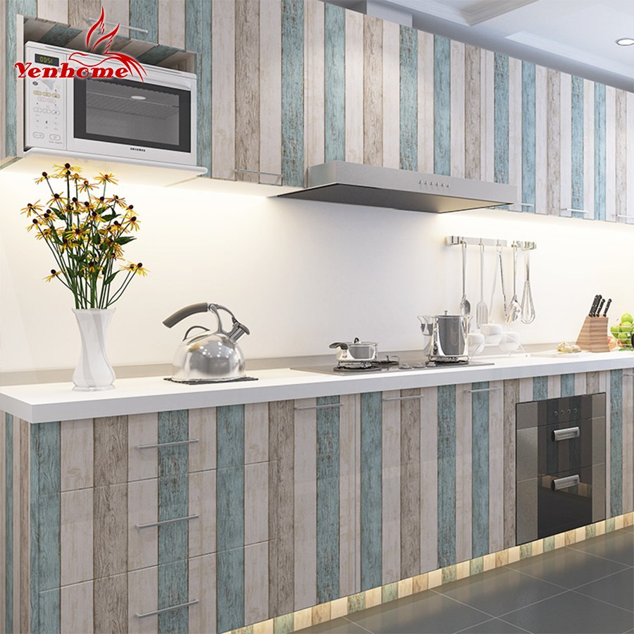 3M/5M/10M Waterproof Vinyl Wall Stickers Self adhesive Wallpaper Roll Furniture Decorative Film Kitchen Cabinet Wardrobe Sticker