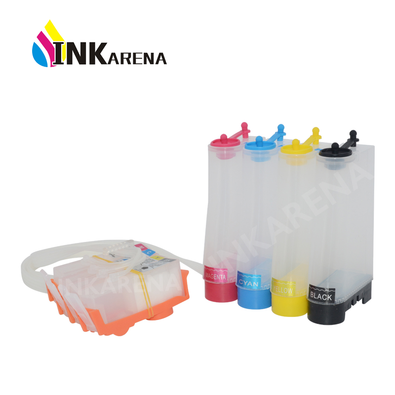 INKARENA for HP 655 <font><b>Bulk</b></font> ink System CISS for HP Deskjet 3525 4615 4625 5525 6525 Printer with chip For HP655 Continuous Ink Tank image