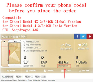 Image 5 - Grade AAA for Xiaomi Redmi 4X Global LCD Digitizer Display Assembly Complete Touch Full Screen TouchScreen Replacement Parts