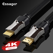 Essager HDMI כבל HDMI ל hdmi 2.0 כבל 4K 1080P 3D HDMI מתאם עבור מקרן PS4 HD טלוויזיה מחשב נייד מחשב 5m 10m 15m 20m כבל