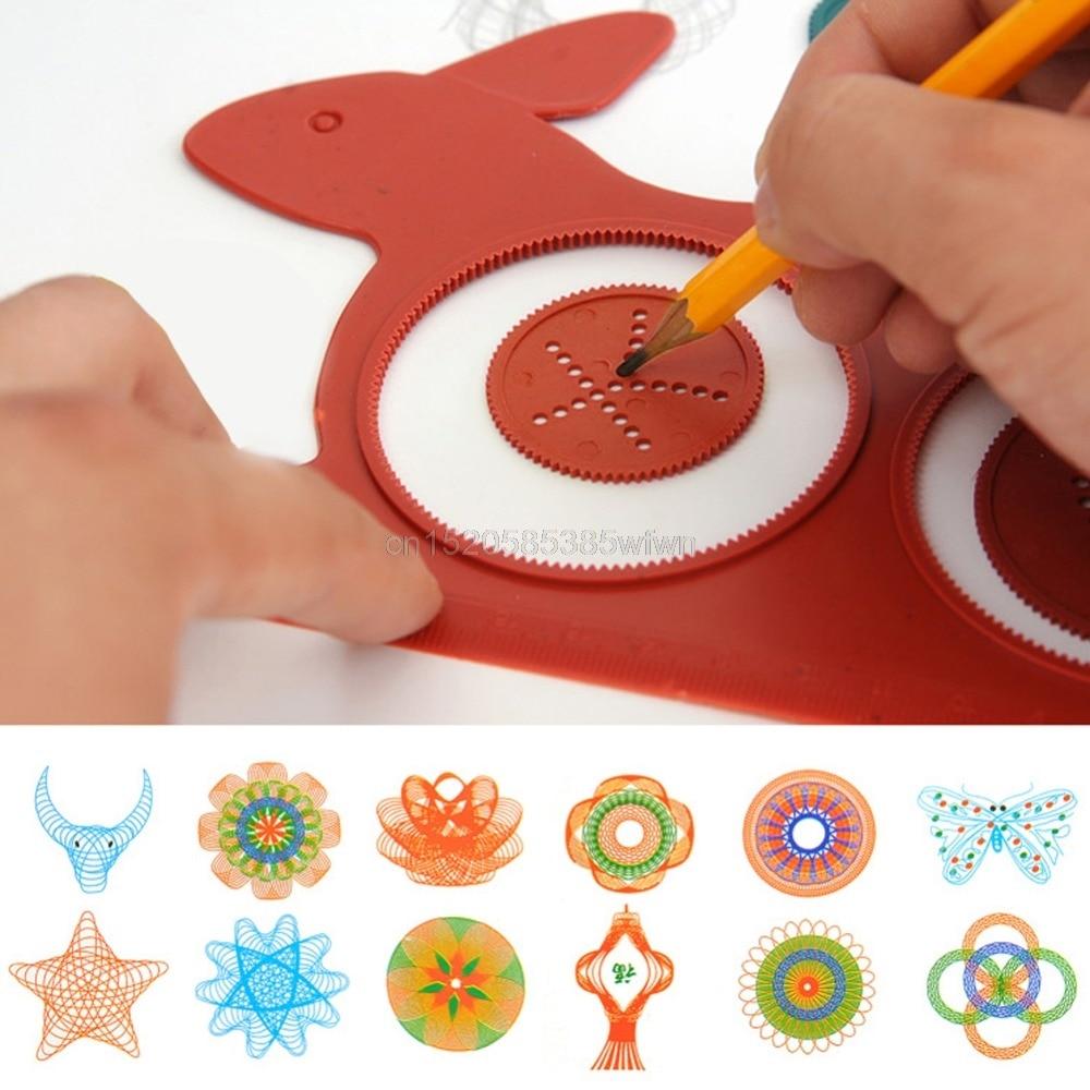 Novelty Spirograph Magic Turtle Rabbit Drawing Board Kids Educational Toy HC6U Drop shipping