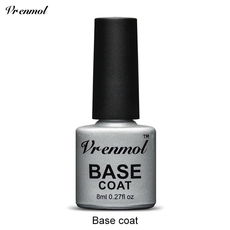 Vrenmol, 1 шт., меняющий цвет, замачиваемый УФ-гель, цвета, лак Verniz, Термальный, меняющий настроение, Гель-лак для ногтей - Цвет: Base coat