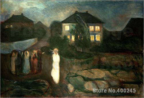 Der Sturm Edvard Munch peinture art moderne peint à la main de haute qualité