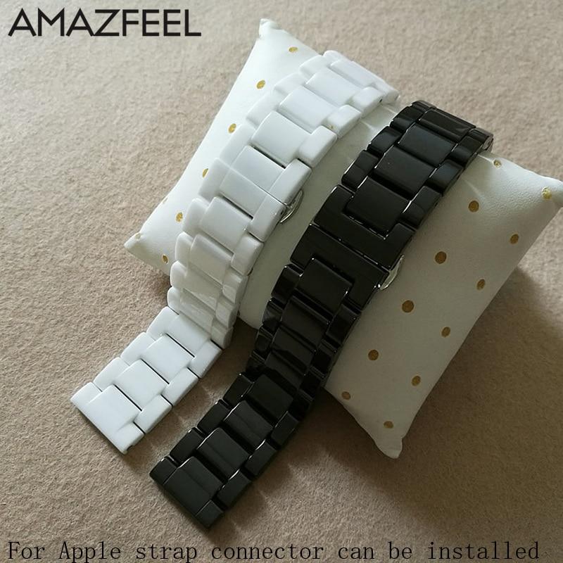 Bracelet Ceramic Correa Amazfit Bip Strap Accesorios For Original Xiaomi Huami 1/2 Amazfit Stratos 2 Pace Watch Band Accesorio