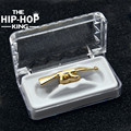 New Custom Fit Gold Plated Hip Hop ak 47 Rifle Grill Cap Top Grills gold silver plated Grills