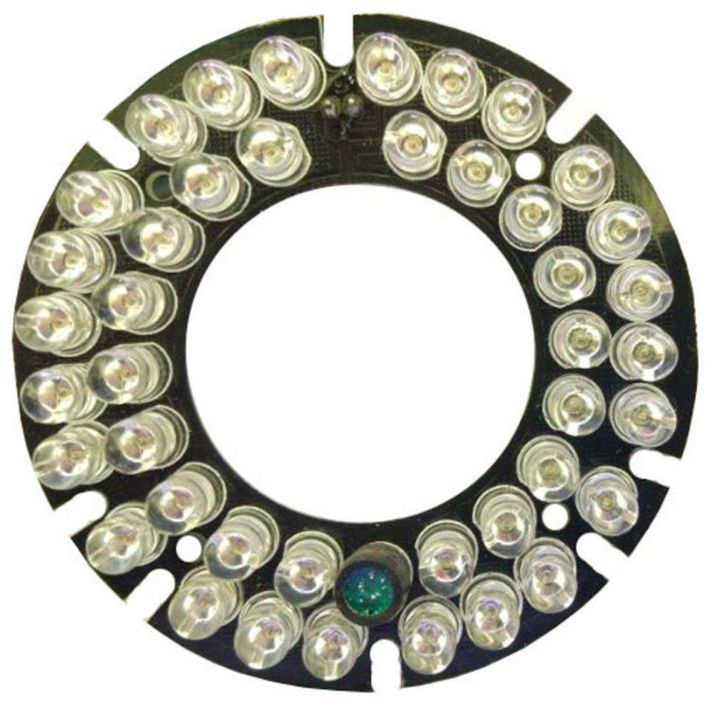 2PCS/LOT 42 LEDS 5mm IR Led Board Infrared Light Board For Waterproof Security Bullet Camera 90 Degree Bulb 60mm Diameter