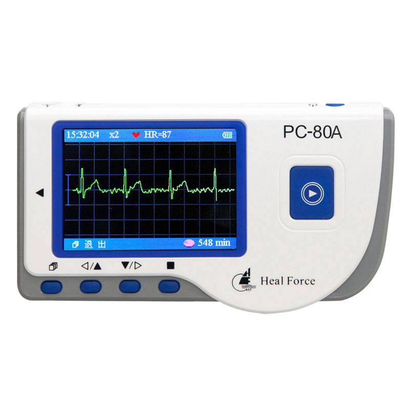 2 8inch OLED Bluetooth Dynamic ECG Systems USB patient Monitor 24 hour Recorder real time store ECG data with PC software in Blood Pressure from Beauty Health
