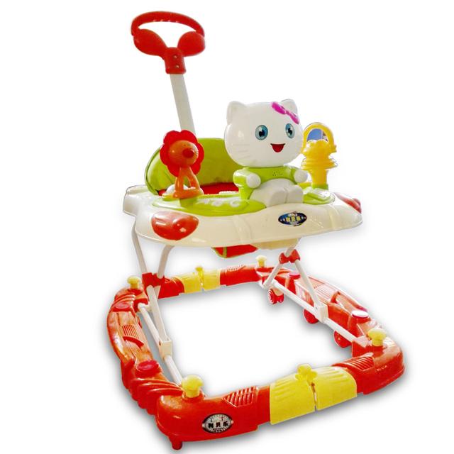Nueva Llegada Del Bebé Walker Multifuncional Plegable Fácil de Seguridad de Prevención de Vuelco Placa Universal de Ruedas Scooter de Bebé Con Música