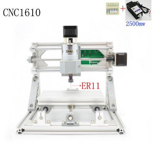 CNC 1610+2500mw ER11 GRBL Diy mini CNC machine high power laser engraving machine,3 Axis pcb Milling machine,Wood Router cnc3018 er11 diy cnc engraving machine pcb milling machine wood router laser engraving grbl control cnc 3018 best toys gifts