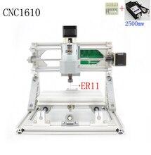 CNC 1610 + 2500 mw ER11 GRBL Diy mini cnc maszyny do grawerowania laserowego dużej mocy, 3 Osi pcb frezarka, Drewna Routera