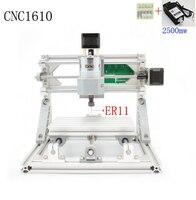 Cnc 1610 + 2500メガワットer11 grbl diyミニcncマシン高出力レーザー彫刻機