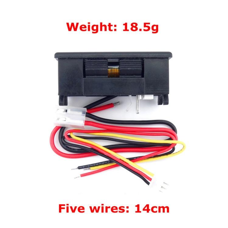 DC OLED multim/ètre amp/èrem/ètre voltm/ètre DC 0-33V DC 0-3A multifonctions Power Meter tension actuel /énergie Capacit/é Temp/érature Dur/ée 7in1 param/ètre /électrique Testeur