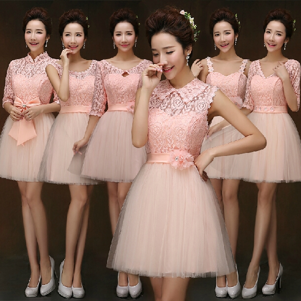 Bridesmaid dresses lace short