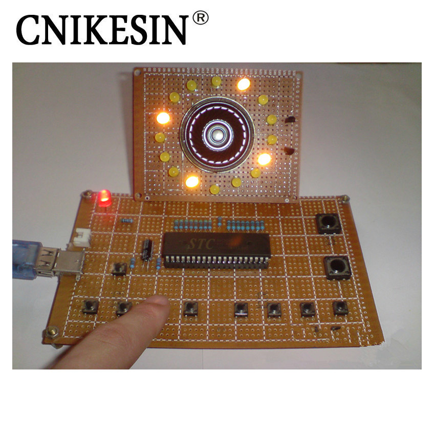 CNIKESIN DIY Kit 51 Single-Chip Electronic Design Kit Screen Type Sound Electronic Organ With Program and File