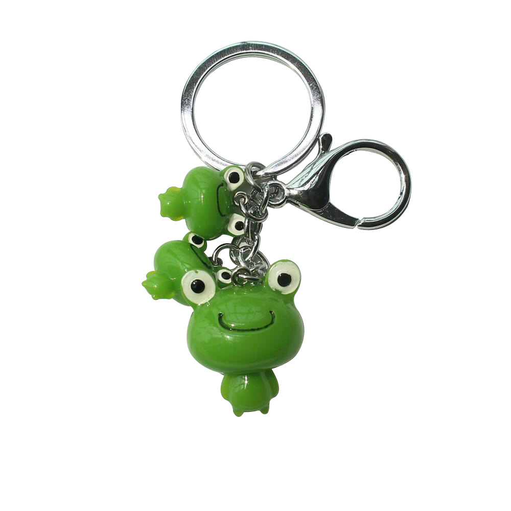 Plastic ornament hooks - Fashion 3d Animal Frog Keychains Key Ring Hook Charms Pendants Ornaments Plastic Crafts China