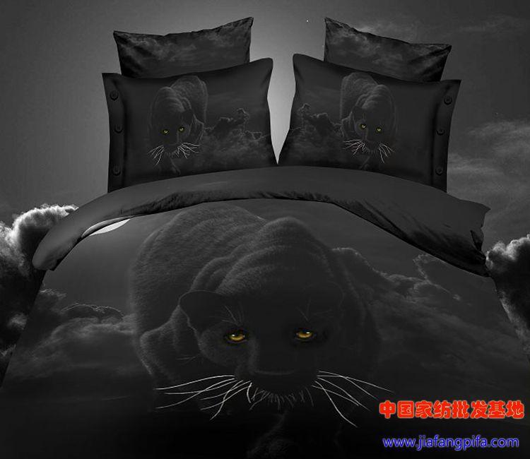 3d Black Panther Leopard Animal Print Bedding Set Queen