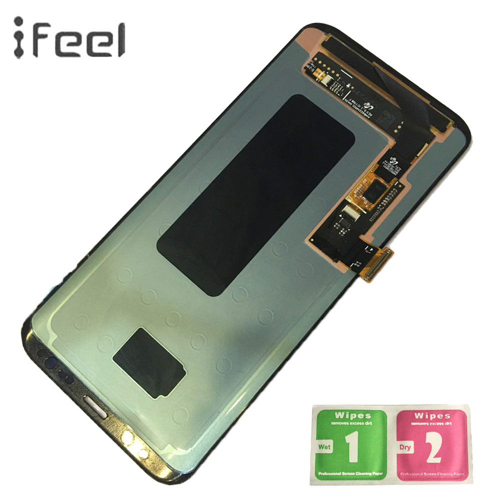 IFEEL Super AMOLED LCD Display Für Samsung Galaxy S8 + S8 Plus G955 G955F G955A LCD Display Touchscreen Digitizer mit Rahmen