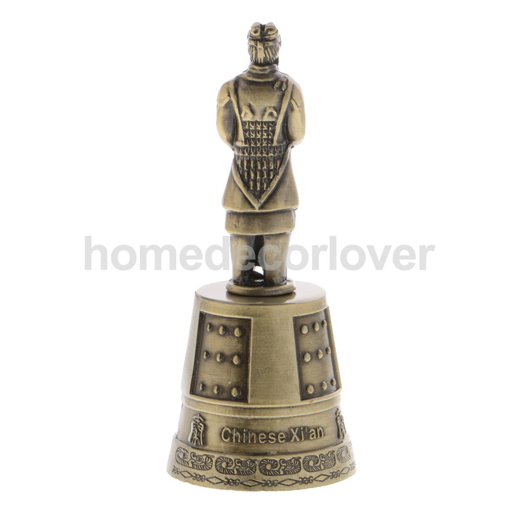Alloy Bronze Handicraft Captain Bell Terracotta Army Figures Desk Ornament
